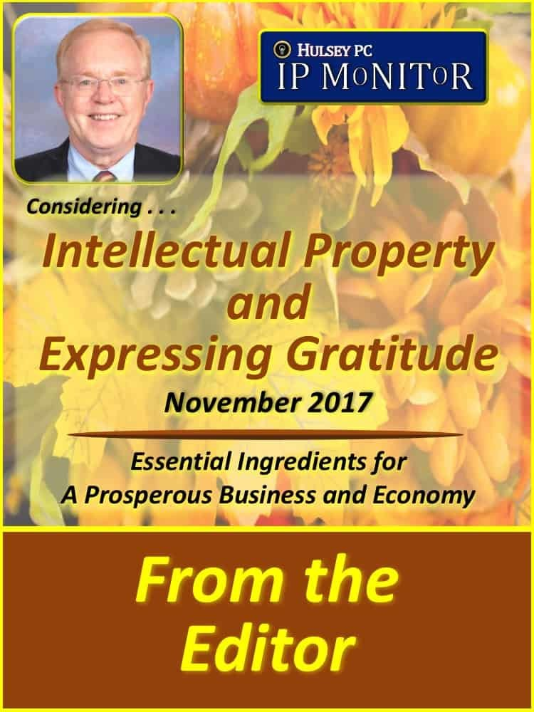 Intellectual Property and Expressing Gratitude
